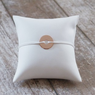 TO ENGRAVE CIRCLE ROSE GOLD BRACELET