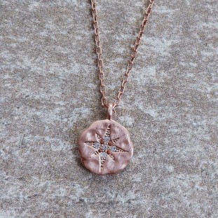 ERYTHEOSE ROSE GOLD NECKLACE NORTH STAR