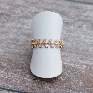 ERYTHEOSE ZIRCON GOLD-PLATED RING