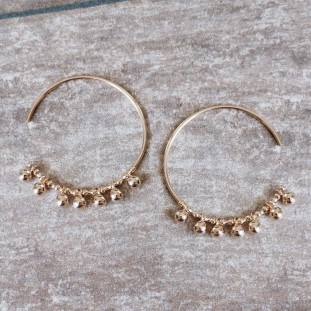 BERLIOSE GOLD-PLATED EARRINGS