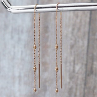 EDELWOSE DROP SMALL BEADS GOLD-PLATED EARRINGS