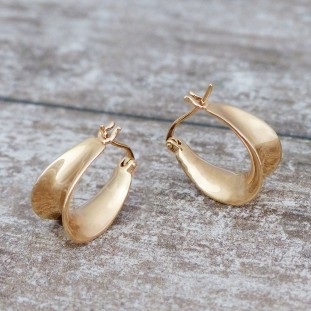 ERAKIOSE GOLD-PLATED HOOPS EARRINGS