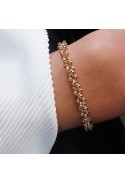 EDELWOSE SMALL BEADED CHAIN GOLD-PLATED BRACELET
