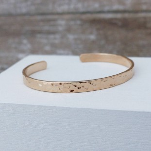 BERLIOSE HAMMERED GOLD-PLATED BANGLE