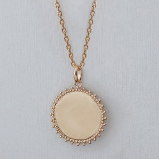 TO ENGRAVE SOLAR MEDAL GOLD-PLATED NECKLACE