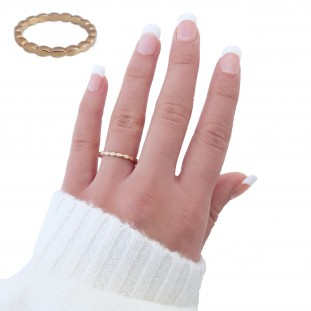 WAVY GOLD-PLATED RING