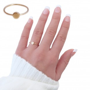 FLAT GOLD-PLATED RING