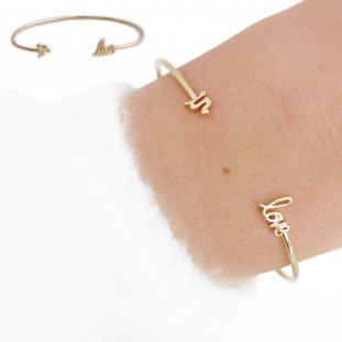 PROSE IN LOVE MESSAGE GOLD-PLATED BANGLE